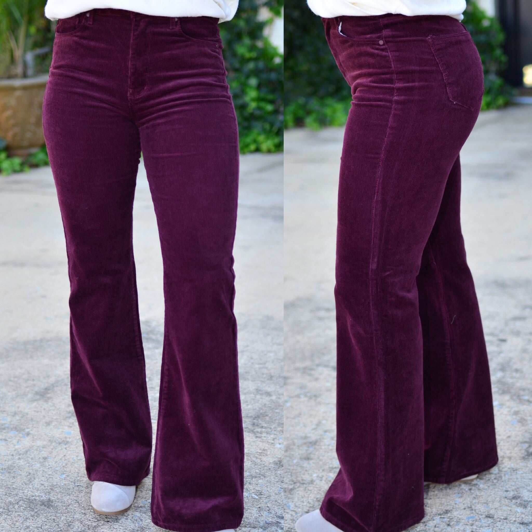 Flares Forever Pants-Wine