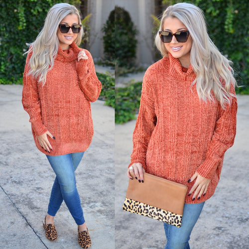 Day Romance Sweater-Rust