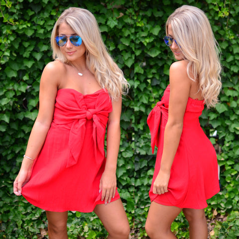 City Lights Dress- Red