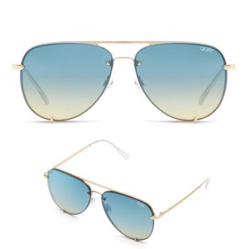 High Key Rimless- GLD/BLUTURQ