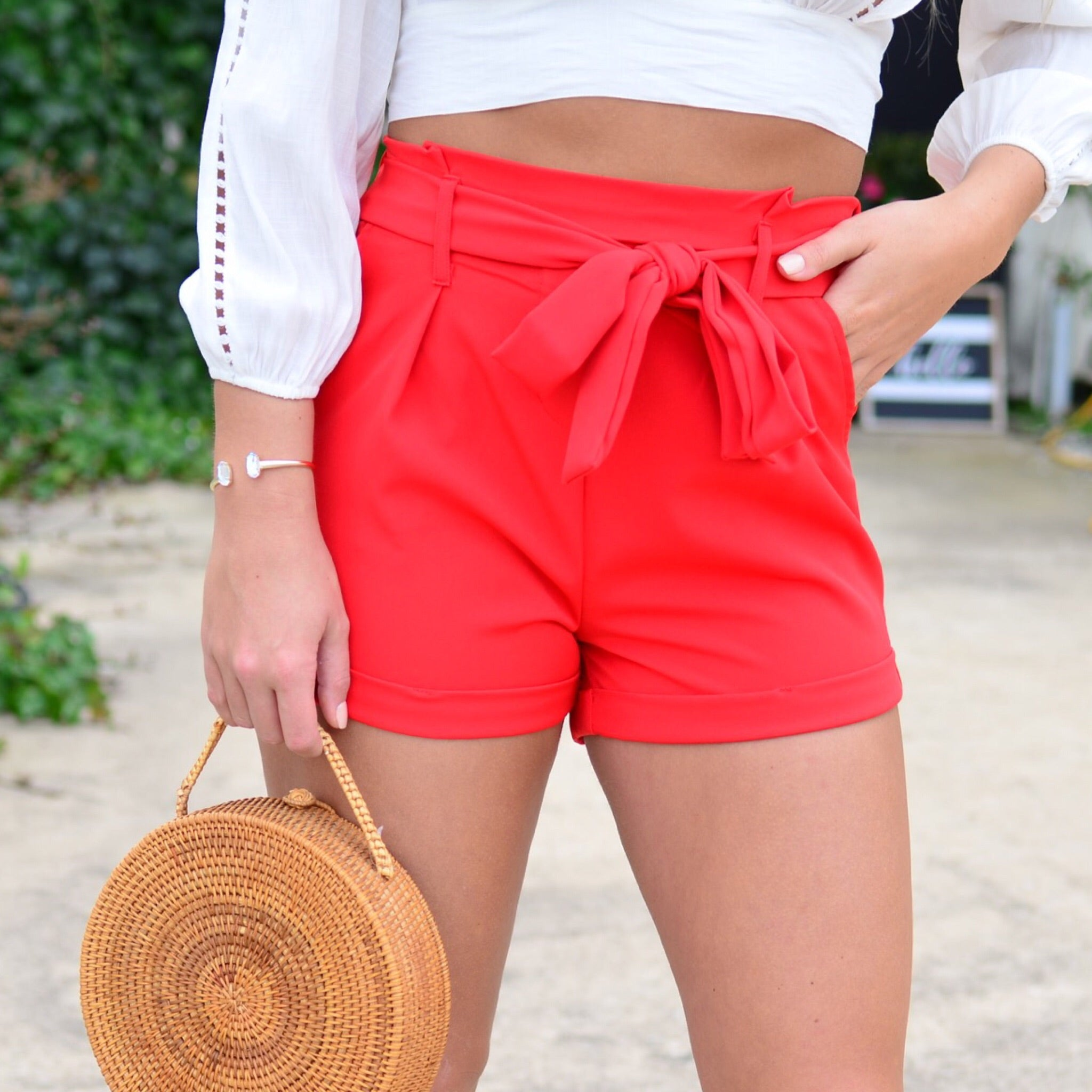 Perfect Life Shorts-Red