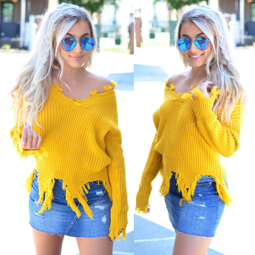 Show Me Love Sweater-Mustard