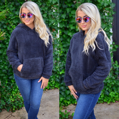 Wonderful Winter Pullover- Charcoal