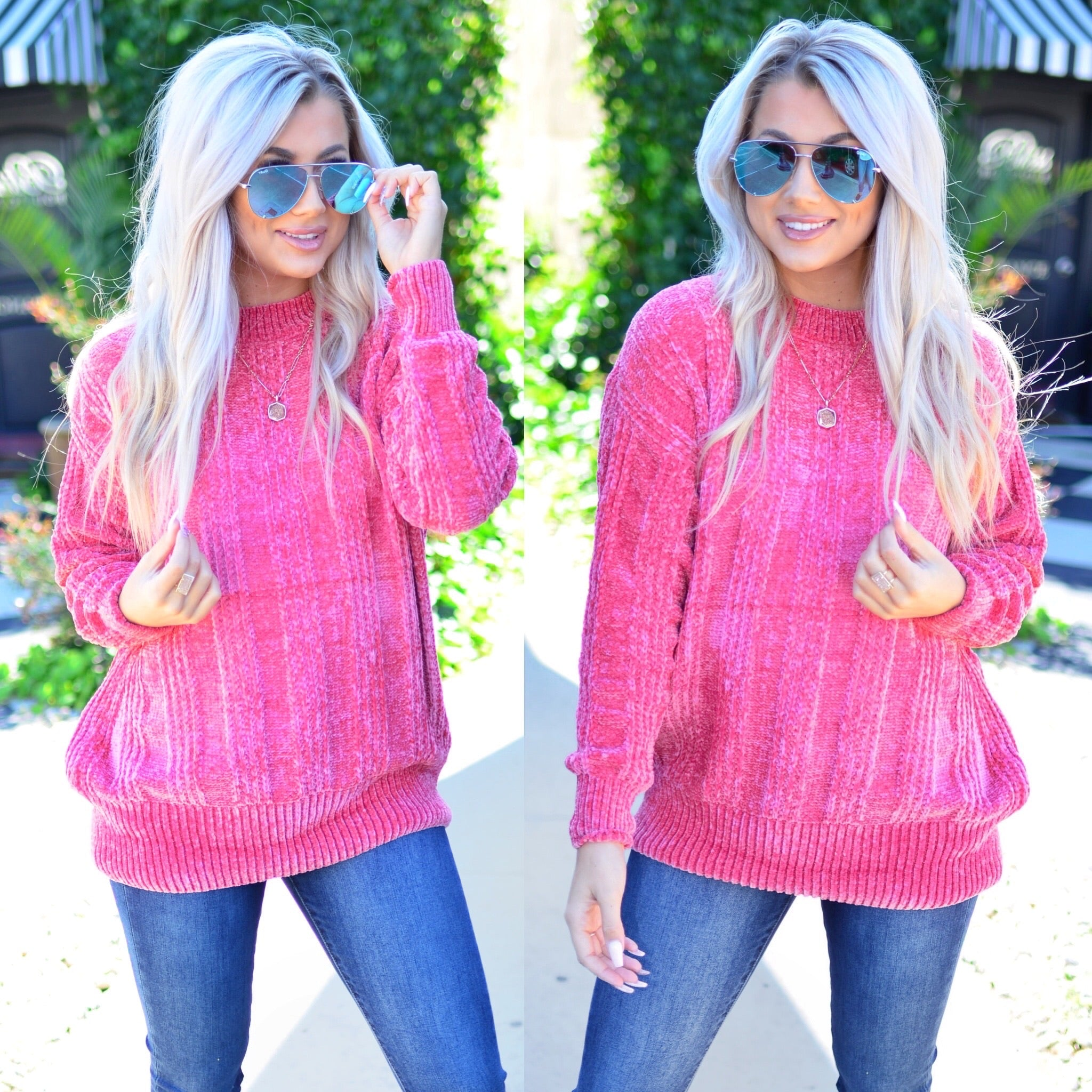 Meant To Be Sweater-Rose
