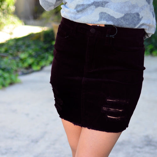 Perfect Love Skirt- Black