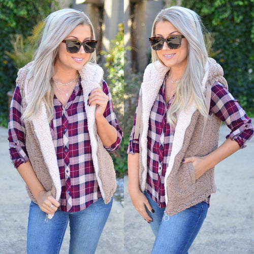 It's So Cozy Vest- Mocha