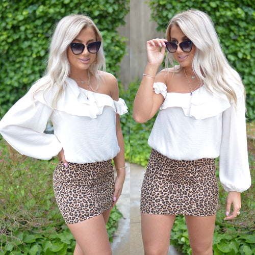 Dream All Day Top-Ivory