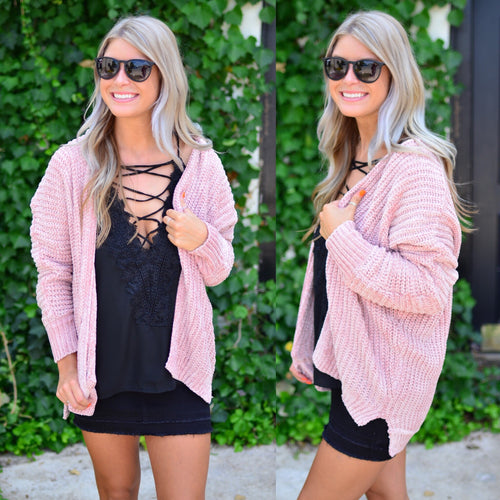 Made For You Cardigan-Blush