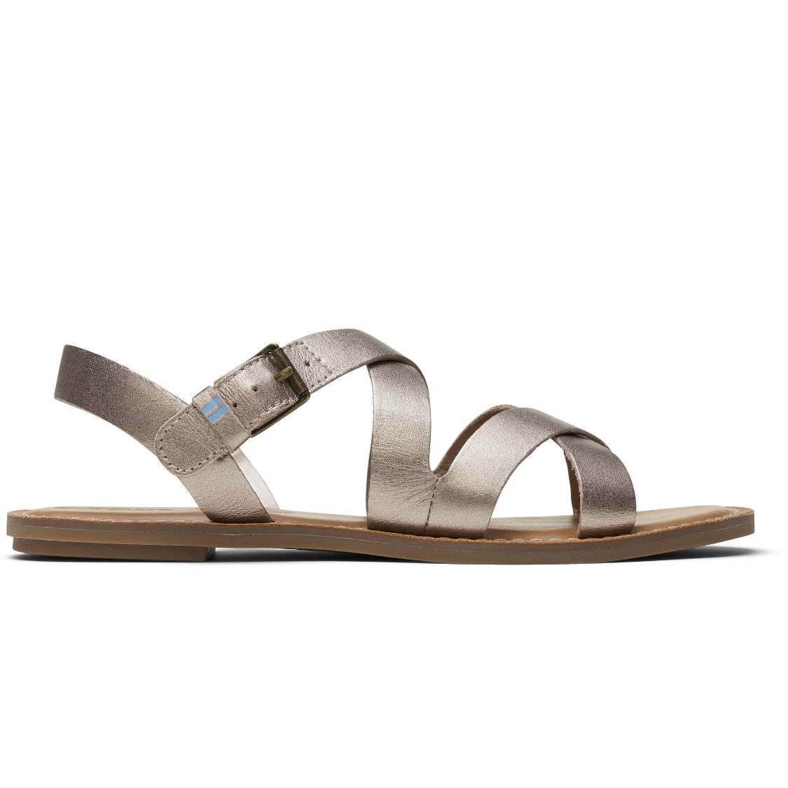 Rose Gold Metallic Leather Women's Sicily Sandals Price