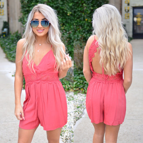 Melody Of Heart Romper-Black
