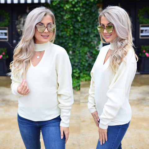 By The Fire Sweater-Cream