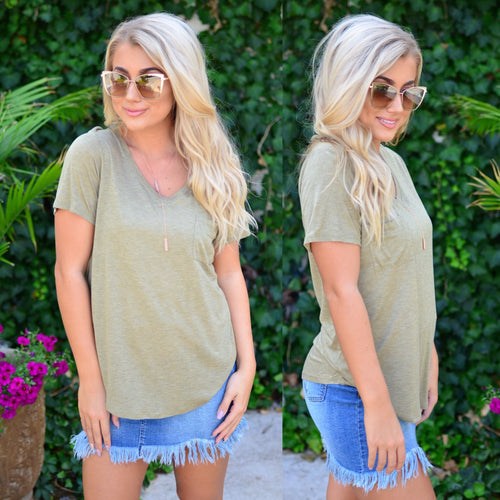 Simple Perfection Top-Olive