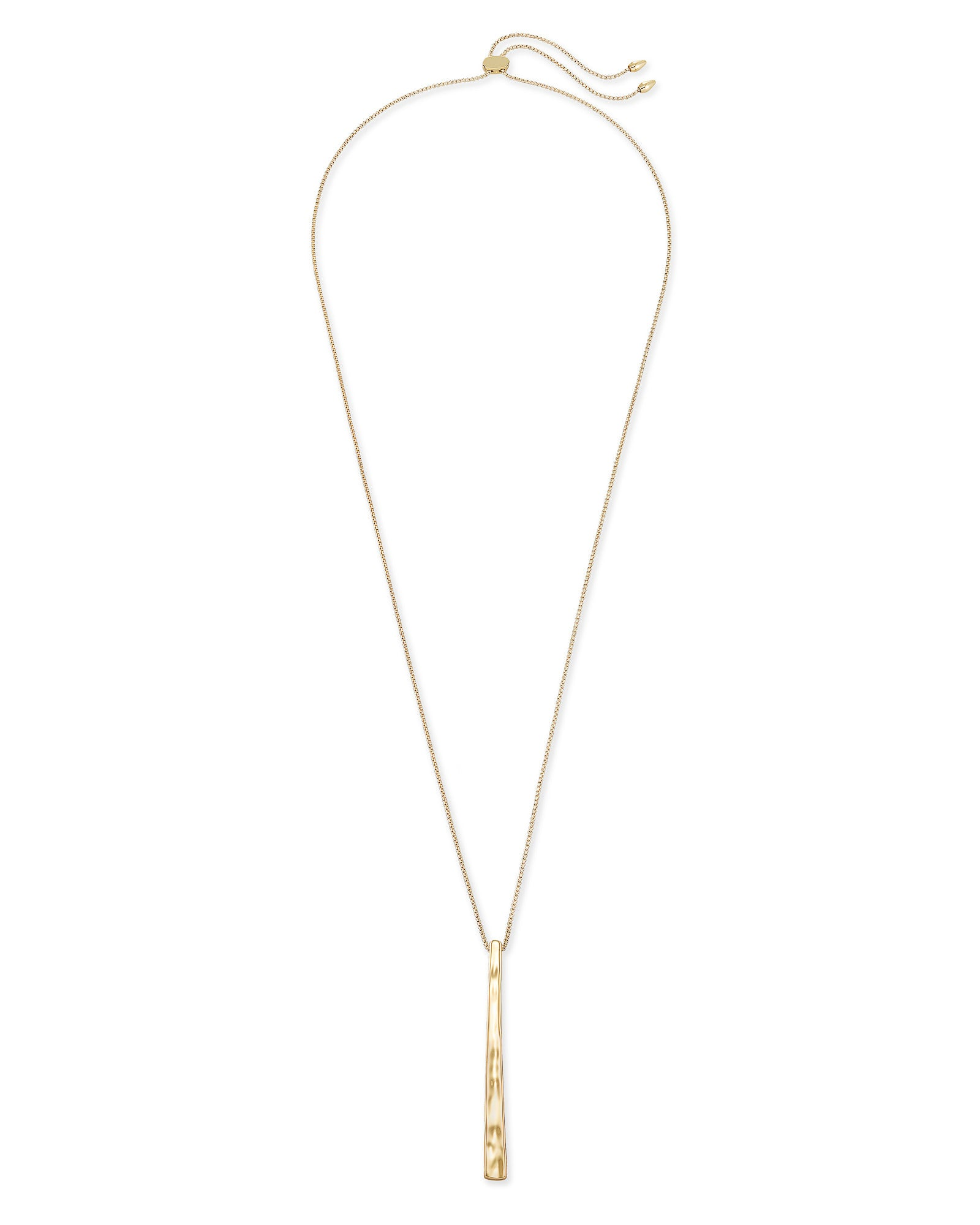 Zorte Long Pendant Necklace in Gold