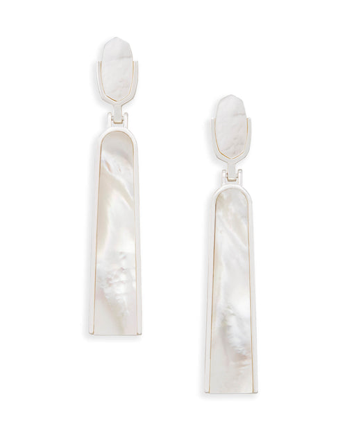 Carson Statement Earrings In Ivory Pearl
