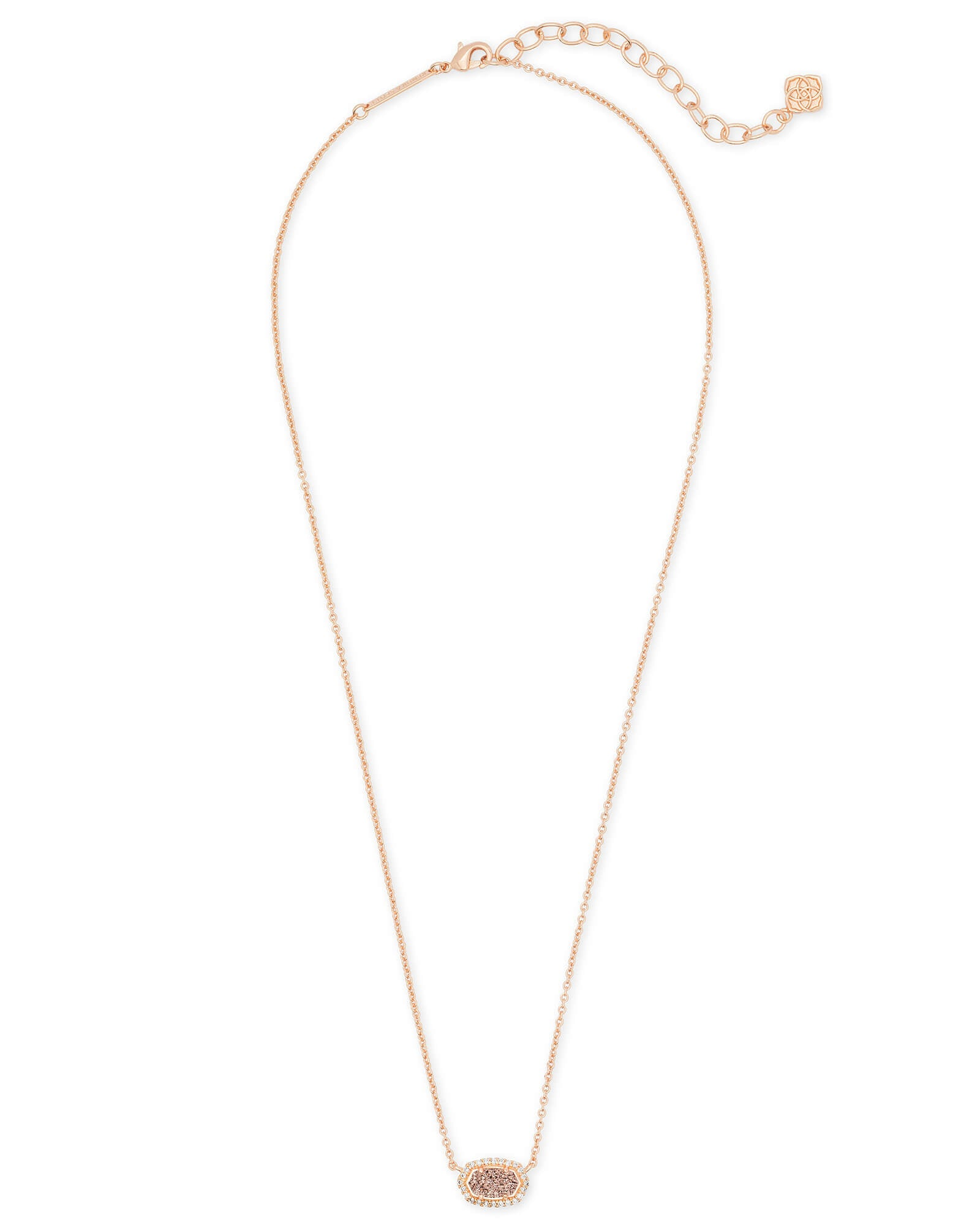 Chelsea Rose Gold Pendant Necklace in Rose Gold Drusy