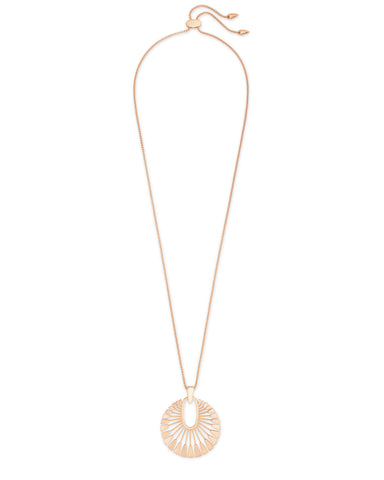 Simon Long Pendant Necklace in Gold