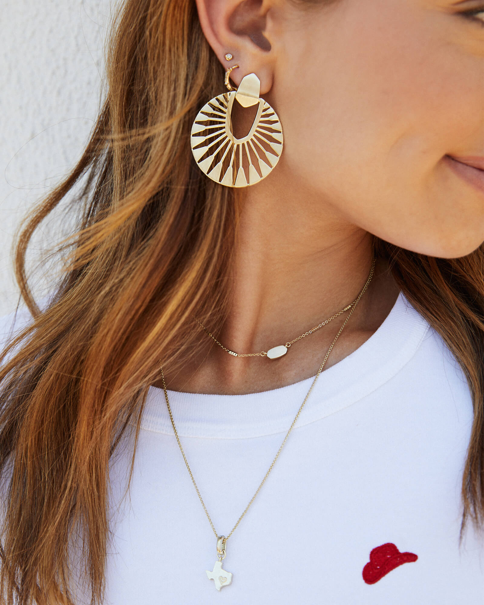 Didi Sunburst Statement Earrings in Rose Gold