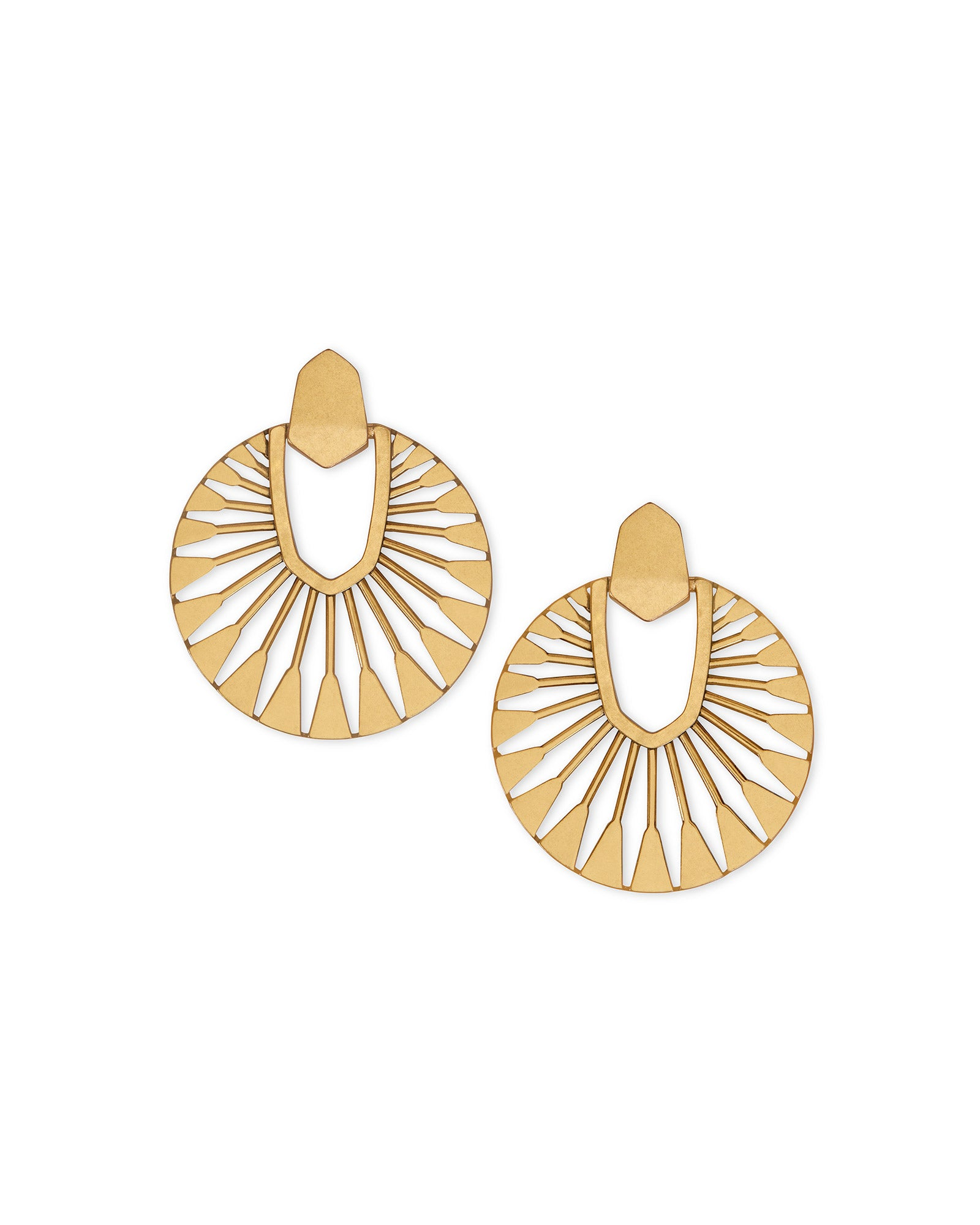 Didi Sunburst Statement Earrings in Vintage Gold