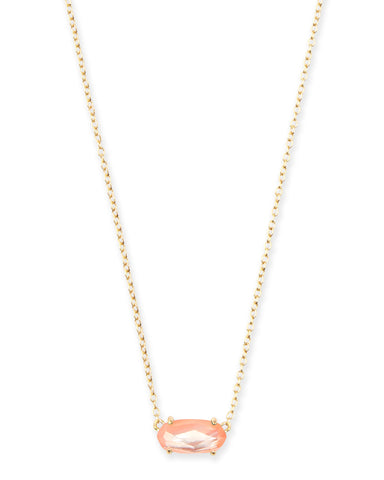 Kacey Rose Gold Long Pendant Necklace in Abalone Shell
