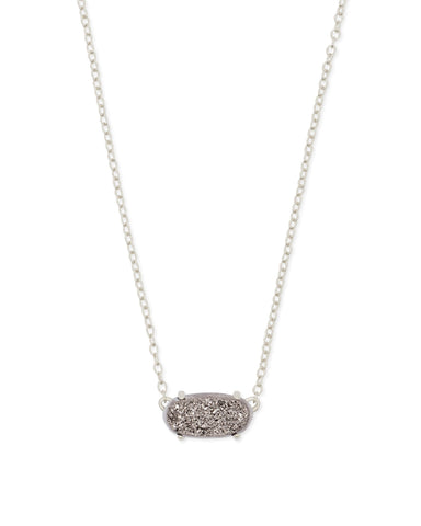 Ever Gold Pendant Necklace in Platinum Drusy