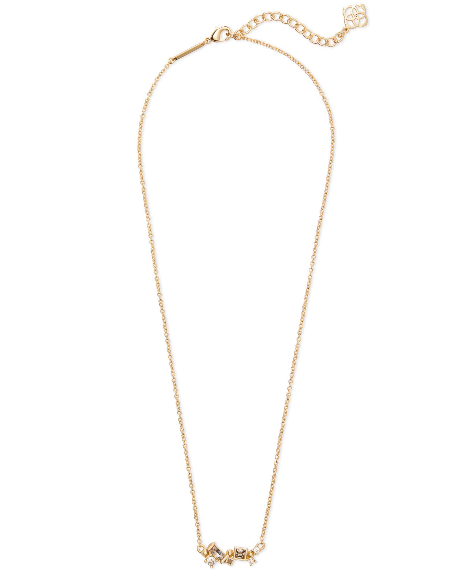 Gunner Gold Pendant Necklace in Smoky Mix