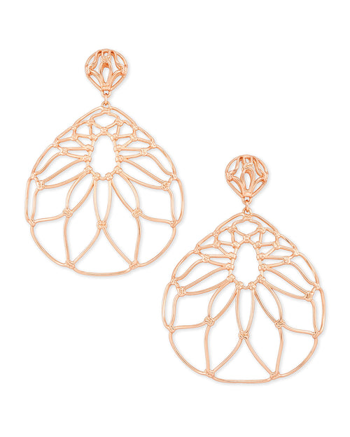 Hallie Statement Earrings In Rose Gold