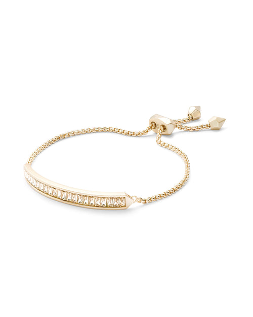 Jack Gold Chain Bracelet in Smoky Crystal