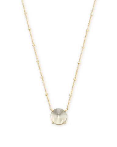 Collins Gold Y Necklace in Bronze Veined Red Magnesite