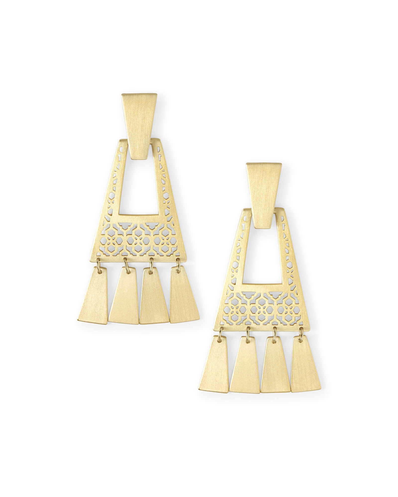 Kase Gold Fringe Earrings in Gold Filigree