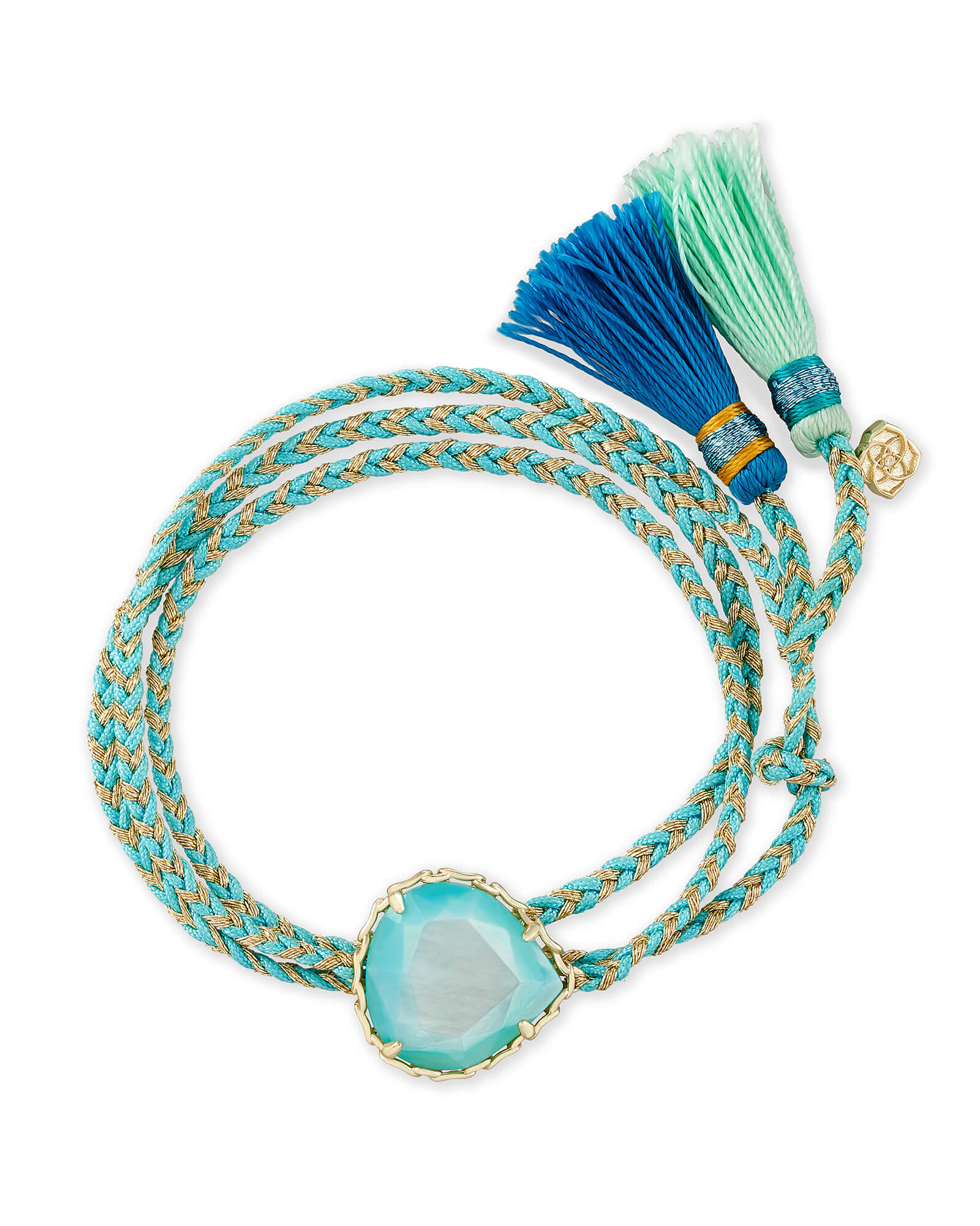 Kenzie Aqua Cord Friendship Bracelet In Aqua Illusion