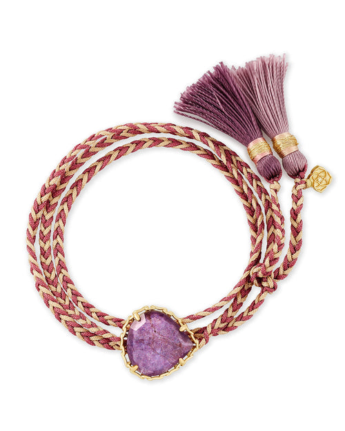 Kenzie Purple Cord Friendship Bracelet In Purple Mica