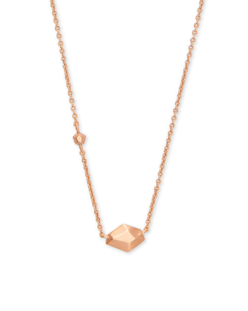 Laureen Pendant Necklace in Rose Gold