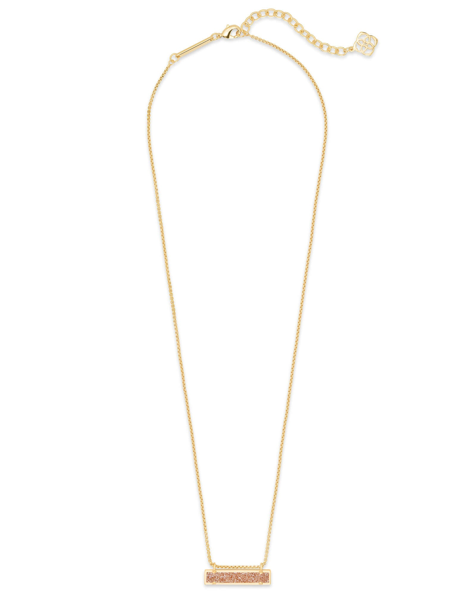 Leanor Gold Pendant Necklace in Sand Drusy