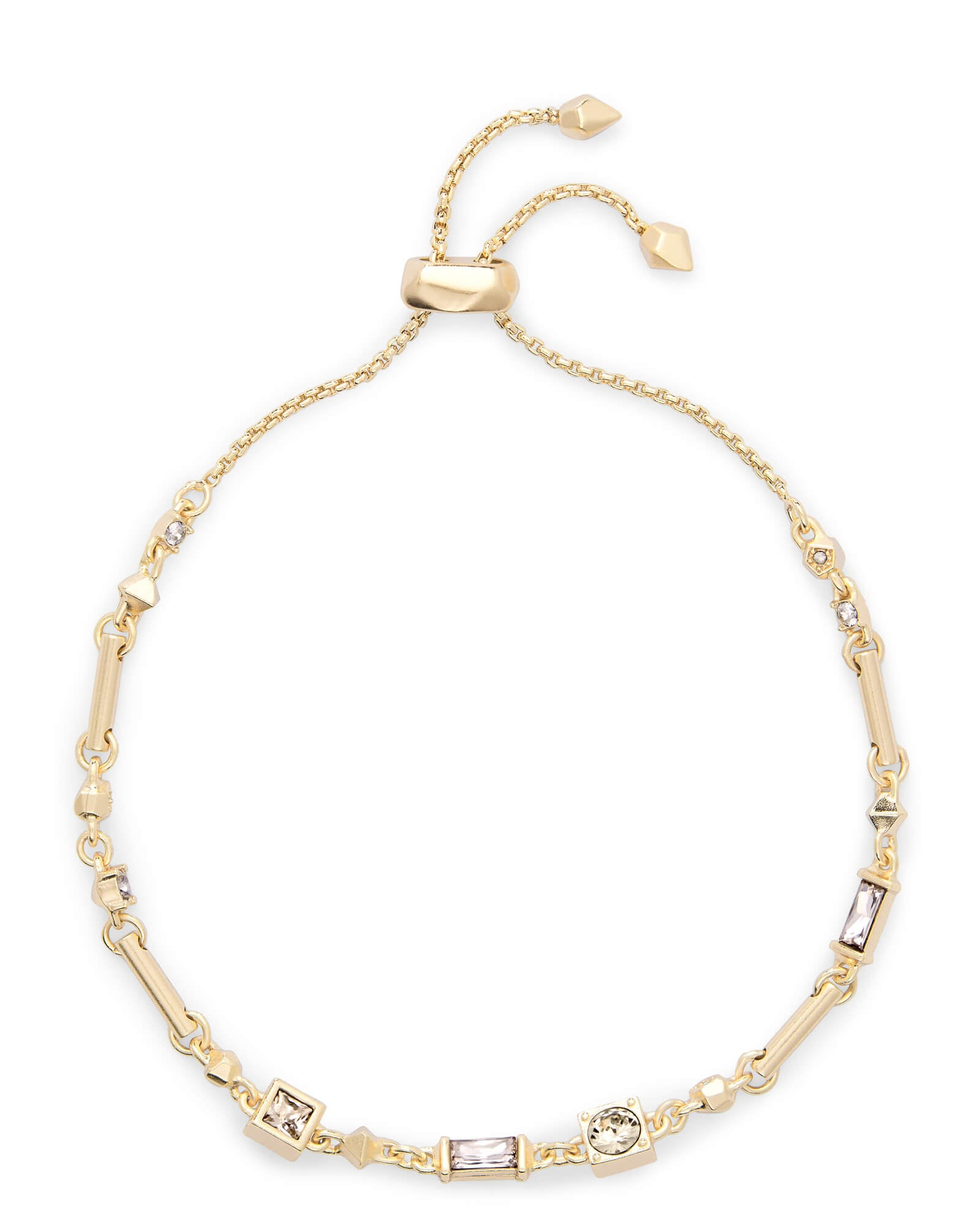Lilo Gold Chain Bracelet in Smoky Mix