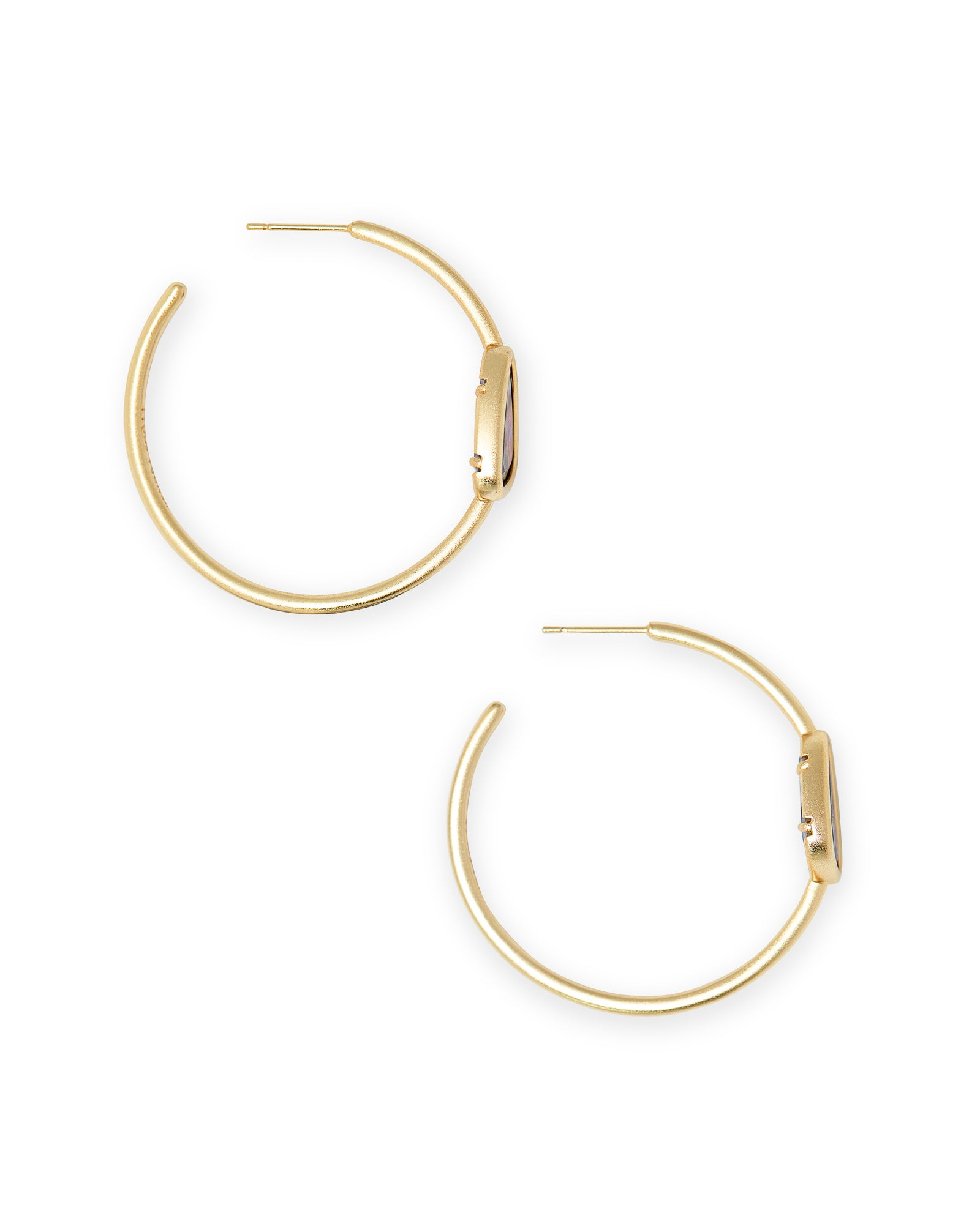 Margot Gold Hoop Earrings In Lilac Abalone
