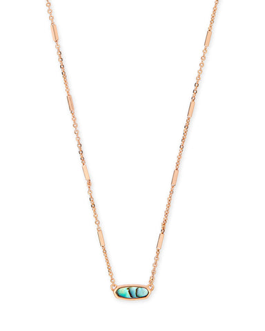 Gunner Rose Gold Pendant Necklace in Blush Mix