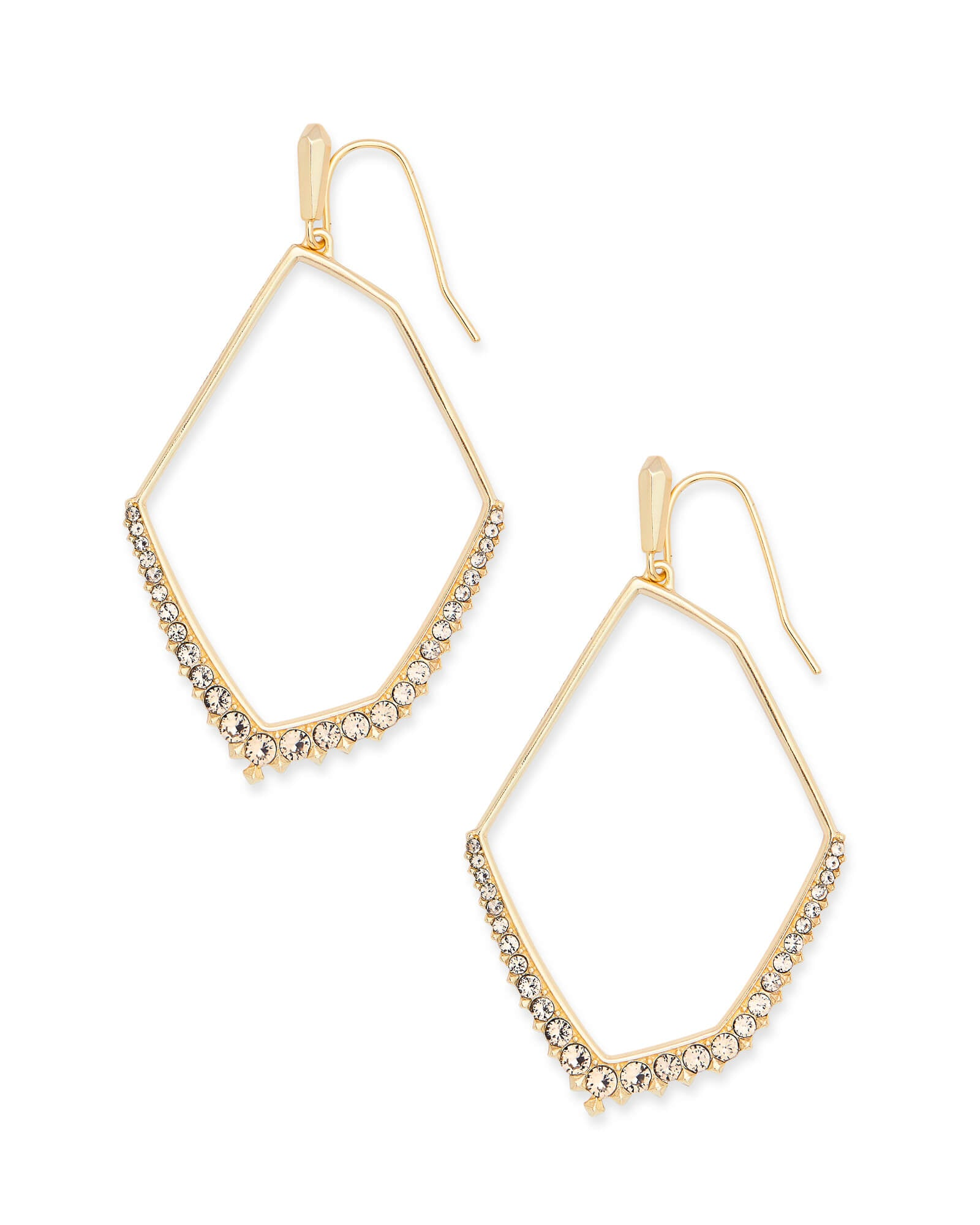 Nell Gold Statement Earrings in Smoky Crystal