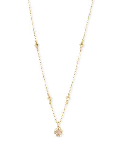 Tomon Gold Y Necklace In Violet Kyocera Opal Illusion