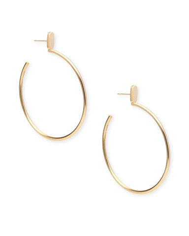 Hanna Gold Statement Earrings in Peach Mix