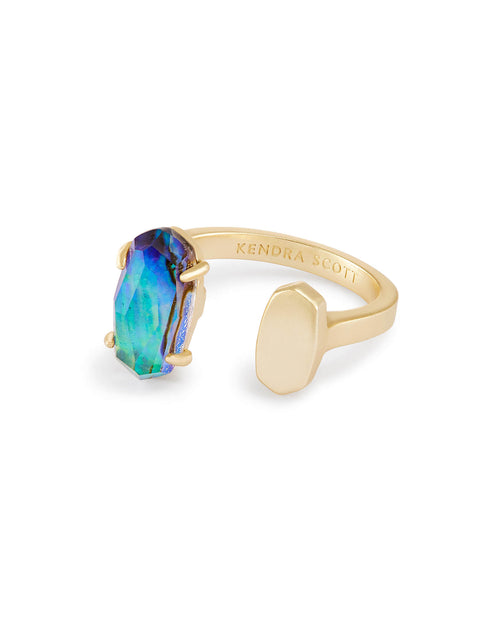 Pryde Open Ring in Abalone Shell