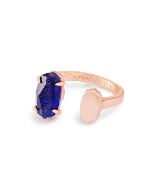 Pryde Open Ring in Navy Dusted Glass