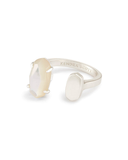 Pryde Open Ring in Ivory Mother of Pearl