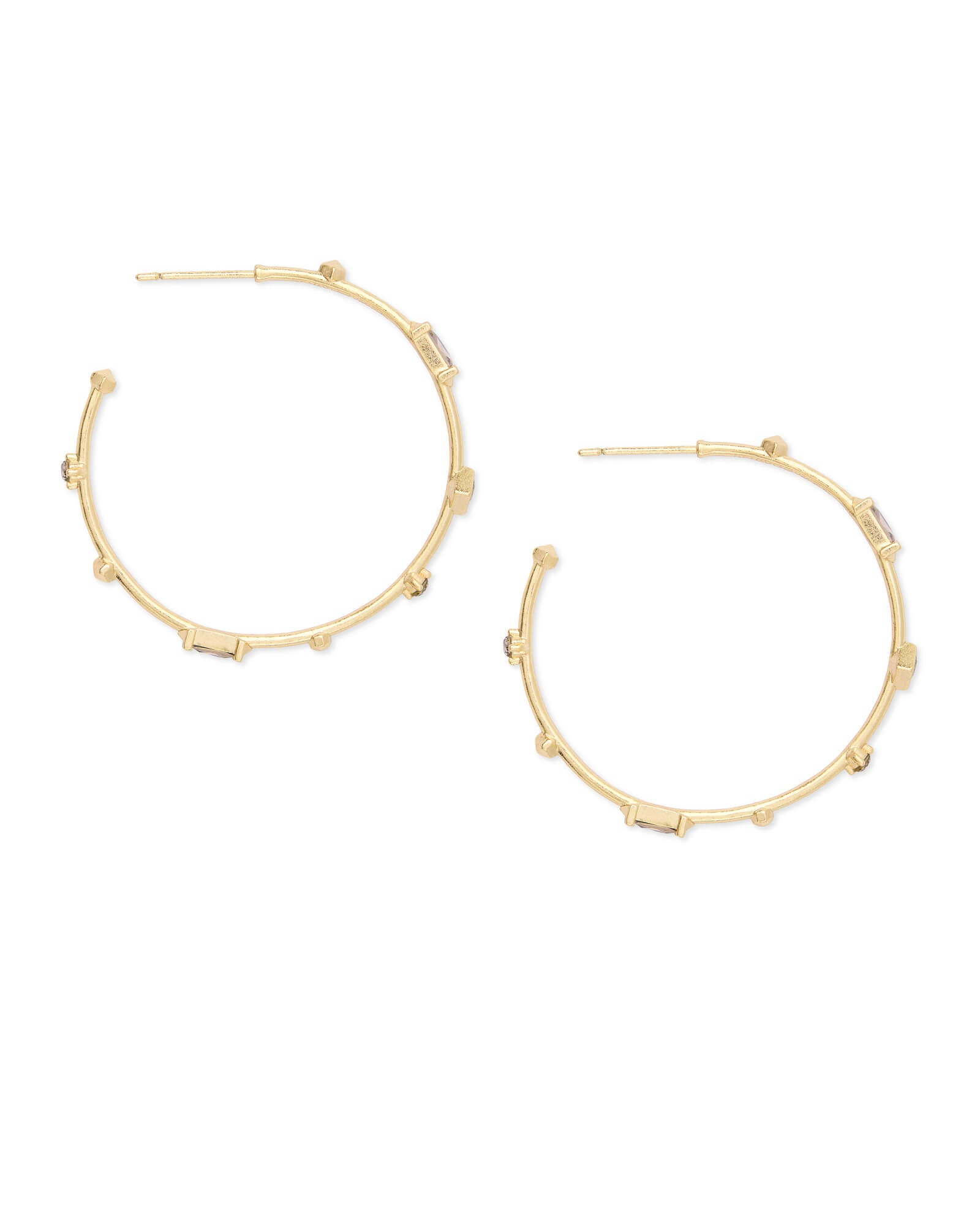Rhoan Gold Hoop Earrings in Smoky Mix