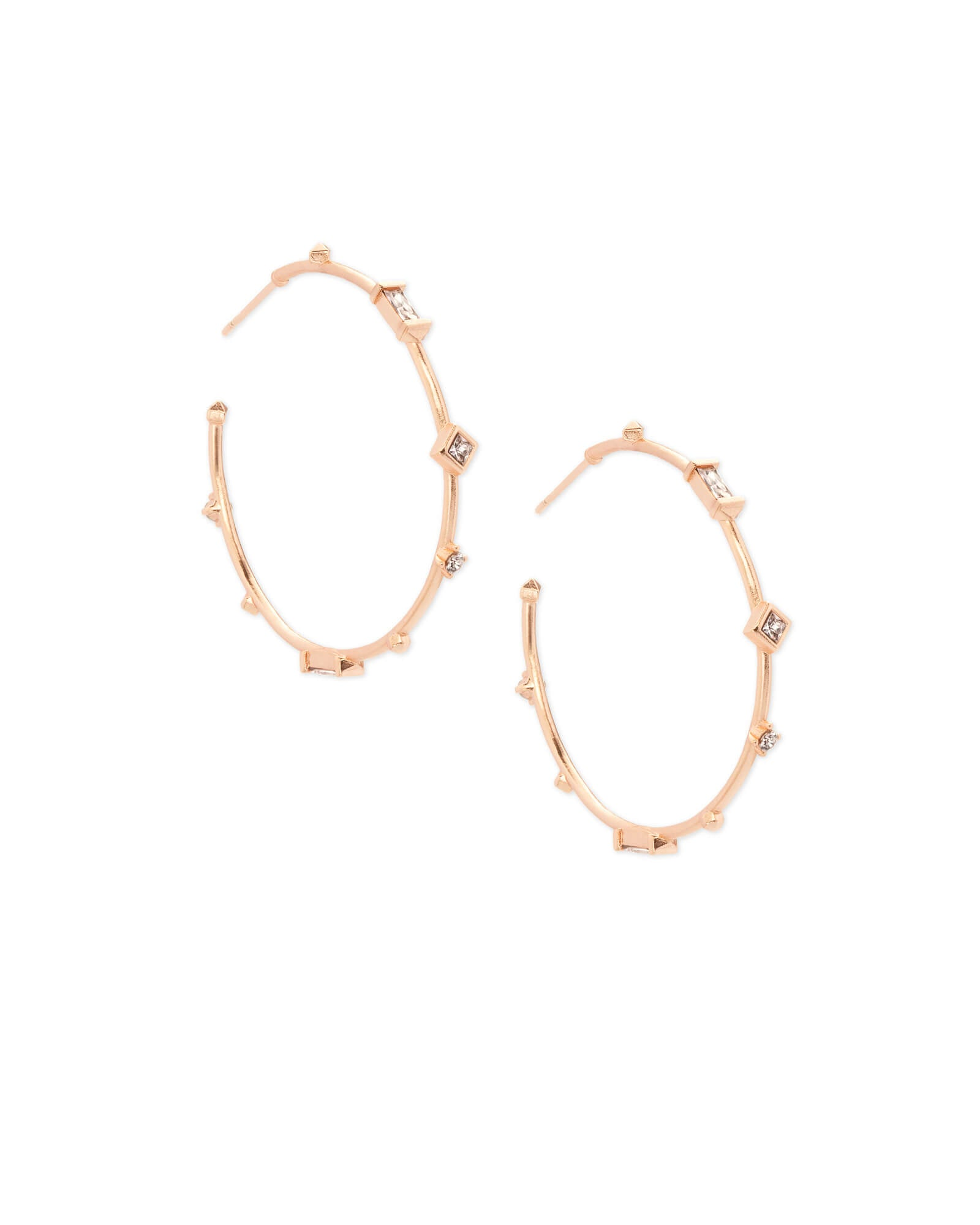 Rhoan Rose Gold Hoop Earrings in Blush Mix