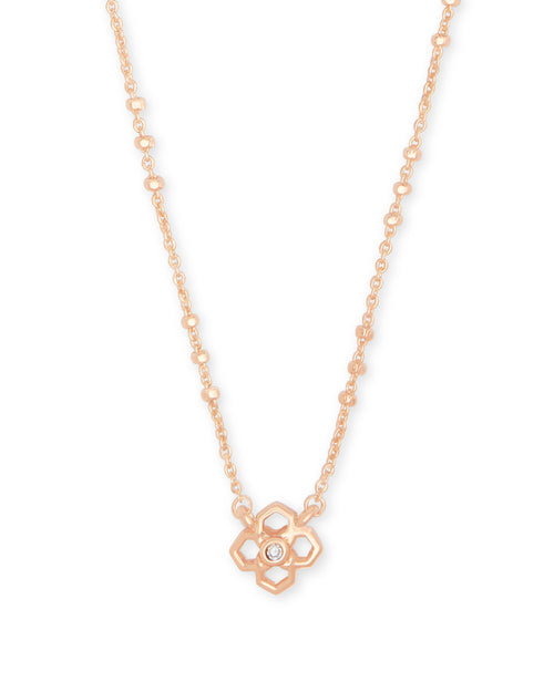 Rue Pendant Necklace In Rose Gold