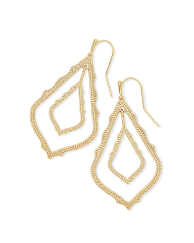 Deanne Hoop Earrings in Vintage Gold