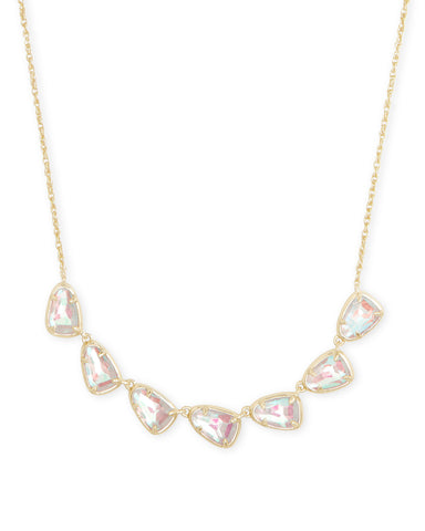Tomon Gold Y Necklace In Turquoise Kyocera Opal Illusion
