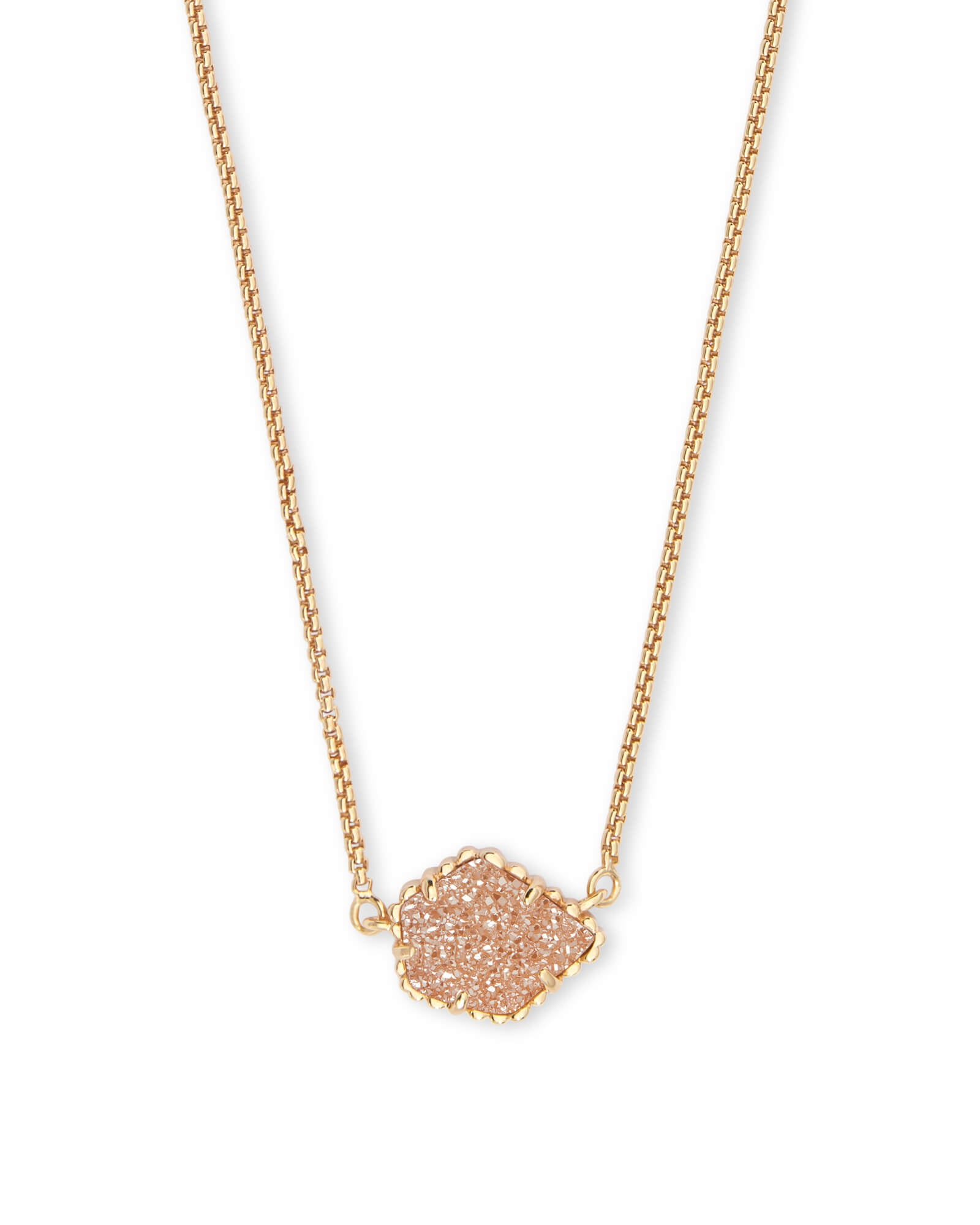 Tess Gold Pendant Necklace in Sand Drusy