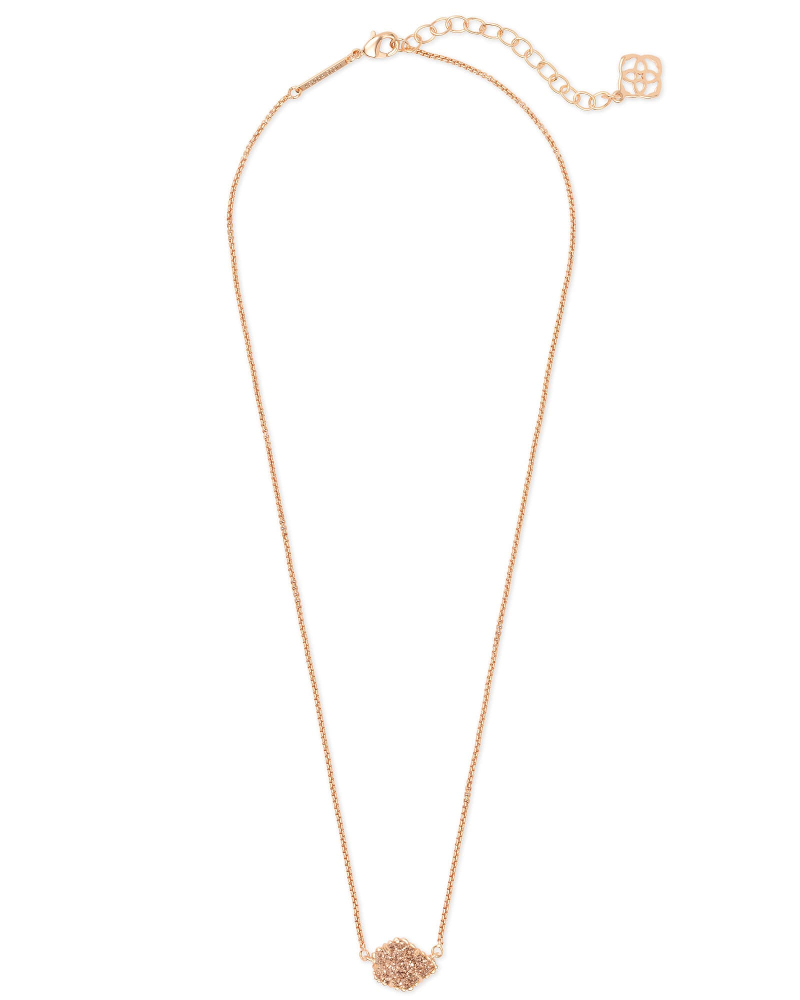 Tess Rose Gold Pendant Necklace in Rose Gold Drusy