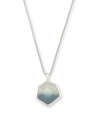 Tess Gold Small Pendant Necklace In Rose Quartz